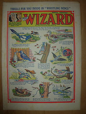 VINTAGE BOYS COMIC THE WIZARD No 1467 MARCH 27th 1954