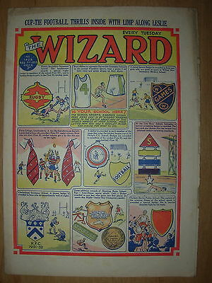 VINTAGE BOYS COMIC THE WIZARD No 1408 FEBUARY 7th 1953