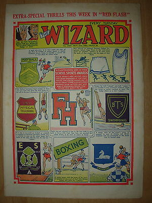 VINTAGE BOYS COMIC THE WIZARD No 1449 NOVEMBER 21st 1953