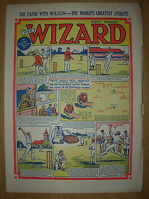 VINTAGE BOYS COMIC THE WIZARD No 1428 JUNE 27th 1953