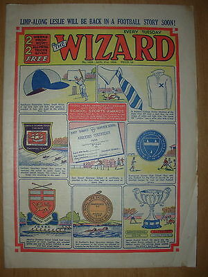 VINTAGE BOYS COMIC THE WIZARD No 1488 AUGUST 21st 1954