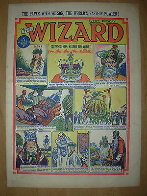 VINTAGE BOYS COMIC THE WIZARD No 1424 MAY 30th 1953