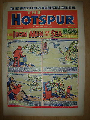 VINTAGE BOYS COMIC THE HOTSPUR No 798 FEBRUARY 23rd 1952