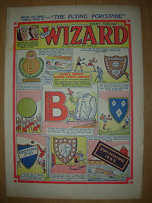 VINTAGE BOYS COMIC THE WIZARD No 1454 DECEMBER 26th 1953