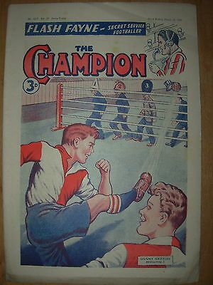 VINTAGE BOYS COMIC THE CHAMPION No 1519 MARCH 10th 1951
