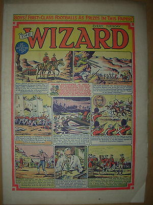 VINTAGE BOYS COMIC THE WIZARD No 1337 SEPTEMBER 29th 1951
