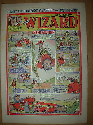 VINTAGE BOYS COMIC THE WIZARD No 1459 JANUARY 30th 1954
