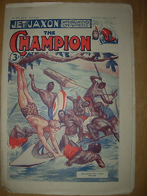 VINTAGE BOYS COMIC THE CHAMPION No 1572 MARCH 15th 1952