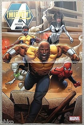 """MARVEL - MIGHTY AVENGERS FOLDED PROMO POSTER - 24"""" x 36"""" INCH - LUKE CAGE - NEW"""
