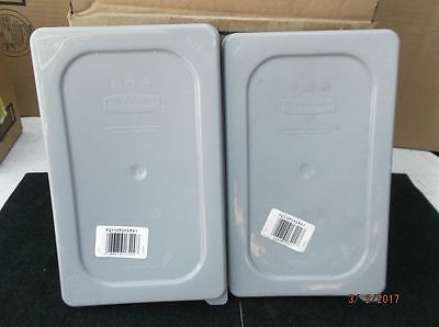 NEW 4 Rubbermaid 1/4 Size Lids Fourth Cold Food Pan Secure Sealing FG115P29GRAY