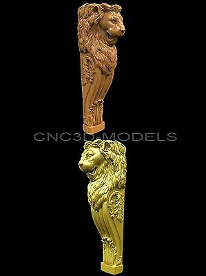 3D STL Models for CNC Router Carving Artcam Aspire Furniture Decor Lion 1609