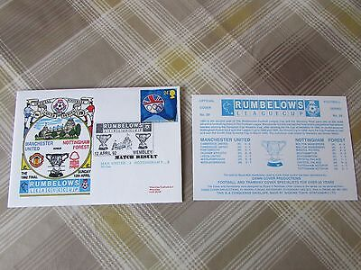 MANCHESTER Utd v NOTTINGHAM Forest 1992 LC Final FOOTBALL First Day Cover