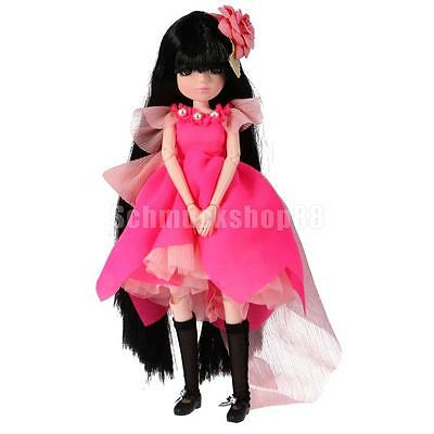 Modern Jointed Make Up Vinyl Body Doll in Rose Red Kids Toy Birthday Gift