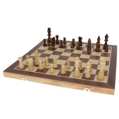 Chess Game Wooden Chessboard Set Classic Chess Pieces Outdoor Game 39.5CM
