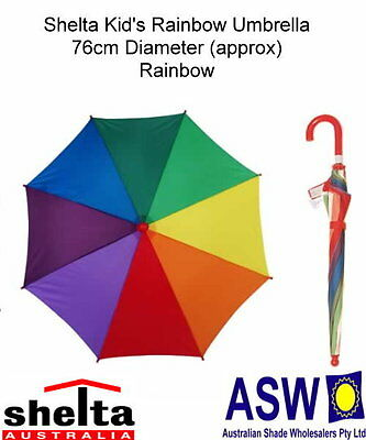 Shelta RAINBOW KIDS UMBRELLA Rain 76cm Diameter 8 Colour Design RU-SH1192