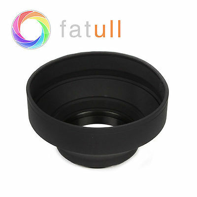 3-Stage Collapsible 3in1 Rubber Lens Hood 67mm for Pentax Canon Nikon DSLR