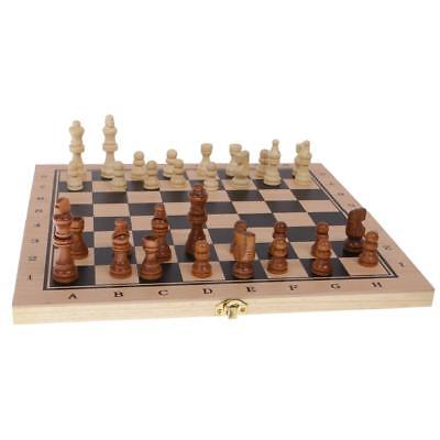 3 in 1 Wooden Board Backgammon Game Set Chess Draughts Classic Party Favor M