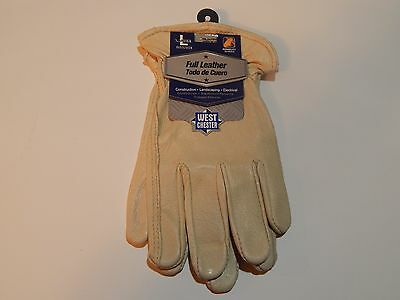 1 Pair Size Large 100% Grain Pigskin Leather Work/Garden Gloves