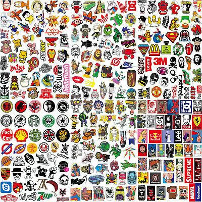 Chic Set of 50Stickers Skateboard Sticker Graffiti Laptop Luggage Car Decals mix