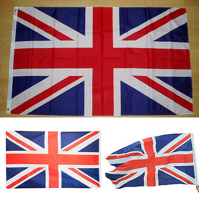 5'x3'  British Union Flag Jack Great Britain United Kingdom UK Team Banner HOT