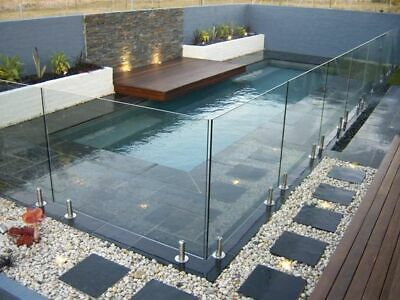 New Frameless Glass Balustrade - Spigot System Full Kit 10mm Toughened Glass