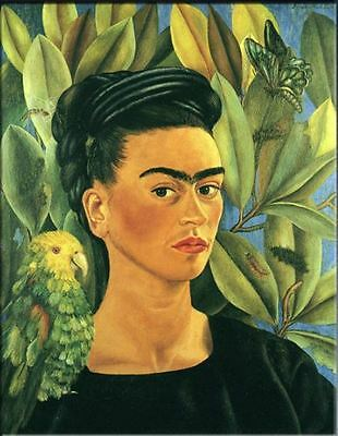 """Frida Kahlo Oil painting on canvas Modern art Self Portrait with Bonito 24x32"""""""