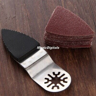 25pcs Useful Multi-tool Oscillating Accessory Finger Sanding Pad + Sanding Paper