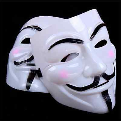 New V for Vendetta Mask Anonymous Guy Fawkes Fancy Dress Adult Costume cosplayY1