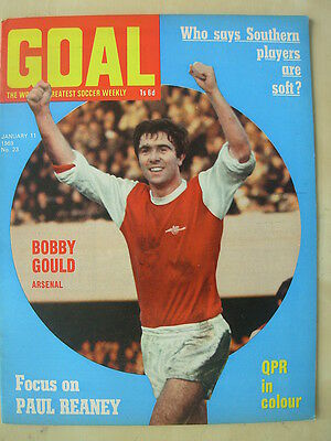 Goal Magazine January 11 1969 Qpr - Bobby Gould David Clements Peter Silvester