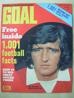 Goal Magazine August 18 1973 Newcastle - Manchester United