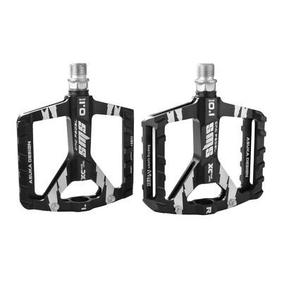 Mountain Bike Flat Bicycle Pedals 9/16 inch Alloy MTB BMX Platform Black CS463