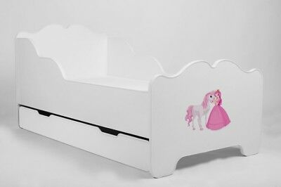 "CHILDRENS TODDLER KIDS BED with MATTRESSand DRAWER ""ANIA"" 140X70"