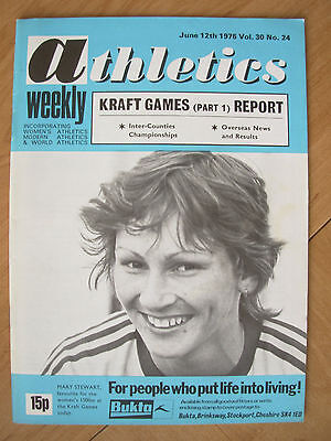 ATHLETICS WEEKLY JUNE 12th 1976 MARY STEWART 1500m