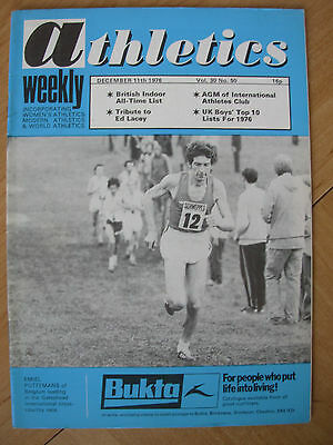 ATHLETICS WEEKLY DECEMBER 11th 1976 EMIEL PUTTEMANS CROSS COUNTRY