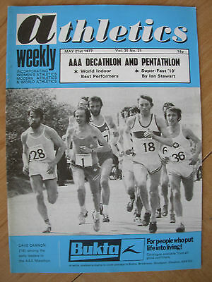 ATHLETICS WEEKLY MAY 21st 1977 DAVE CANNON IN AAA MARATHON