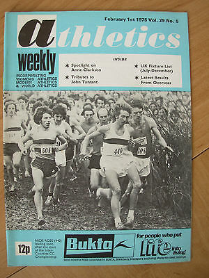 ATHLETICS WEEKLY FEBRUARY 1st 1975 NICK ROSE LEADING THE INTER-COUNTIES CC