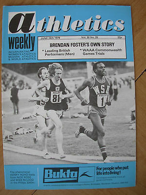 ATHLETICS WEEKLY JUNE 24th 1978 HENRY RONO - NICK ROSE - MIKE McLEOD