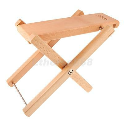 Wooden Guitar Foot Rest Stool Pedal 4-Level Adjustable Height Beech