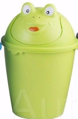 Childrens Swing Lid Dustbin Animal Face Kids Bedroom Waste Paper Rubbish Bin NEW