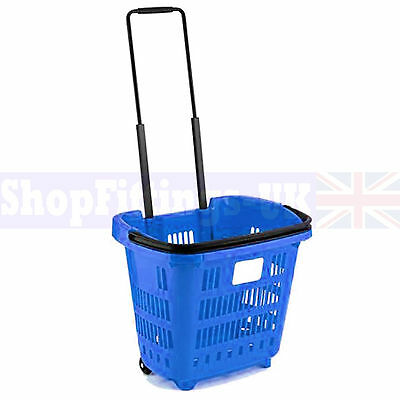 15x Blue Supermarket Grocery Shopping Basket DIY Retail Shopping Basket