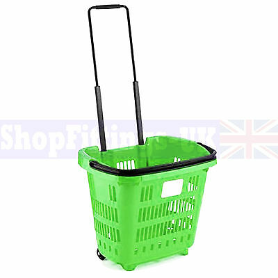 15x Green Supermarket Grocery Shopping Basket DIY Retail Shopping Basket