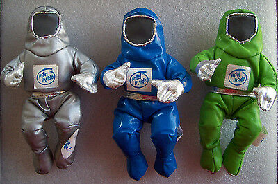 "Intel 8"" Bunny People Vintage Lot Of 3 In Silver, Blue & Green Color"