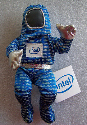 "Intel Bunny People In Blue Character 8"" Vintage w/ Tag"