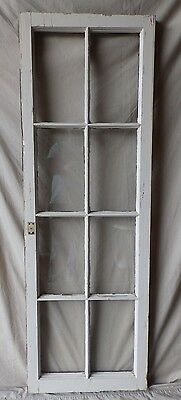 Antique 8 Lite Casement Cupboard Window Cabinet Shabby Vtg Chic Old 60x20 229-17