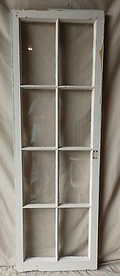 Antique 8 Lite Casement Cupboard Window Cabinet Shabby Vtg Chic Old 60x20 233-17