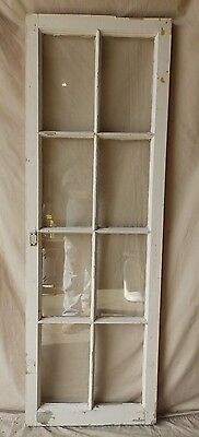 Antique 8 Lite Casement Cupboard Window Cabinet Shabby Vtg Chic Old 60x20 234-17