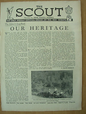 VINTAGE THE SCOUT MAGAZINE JUNE 26th 1947 LORD BADEN-POWELL