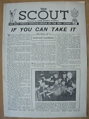 VINTAGE THE SCOUT MAGAZINE JUNE 6th 1946 LORD BADEN-POWELL - BOY SCOUTS