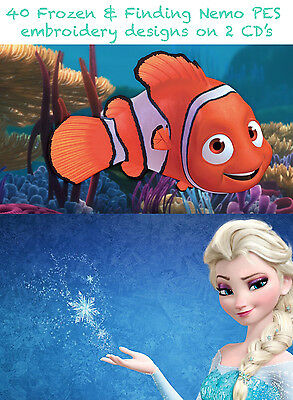 Finding Nemo & Frozen 80 Embroidery Machine Designs Digital Download Only