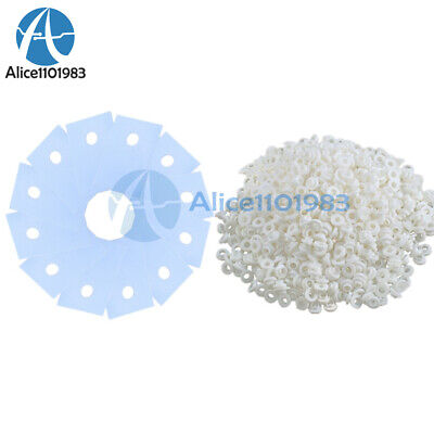 100PCS TO-220 White Transistor Plastic Washer Insulation Washer + Pads Silicone